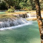 Luang Prabang - waterfall, Mekong river and monks